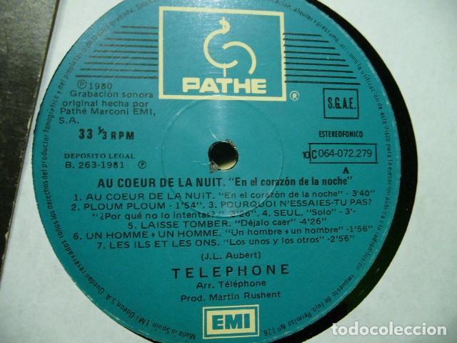 Discos de vinilo: TELEPHONE AU COEUR DE LA NUIT EN EL CORAZON DE LA NOCHE LP SUPER RAREZA 1980 NEW WAVE PUNK ROCK - Foto 4 - 119236459