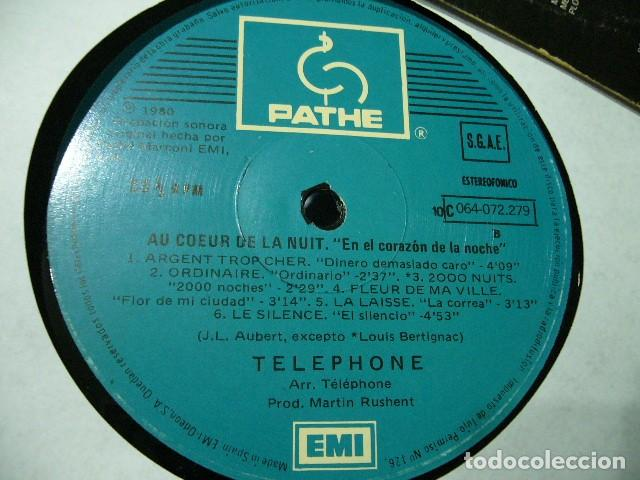 Discos de vinilo: TELEPHONE AU COEUR DE LA NUIT EN EL CORAZON DE LA NOCHE LP SUPER RAREZA 1980 NEW WAVE PUNK ROCK - Foto 5 - 119236459