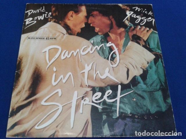 VINILO MAXI SINGLE 45 RPM DAVID BOWIE & MICK GAGGER ( DANCING IN THE STREET ) 1985 EMI ESPAÑA (Música - Discos de Vinilo - Maxi Singles - Pop - Rock Internacional de los 50 y 60)