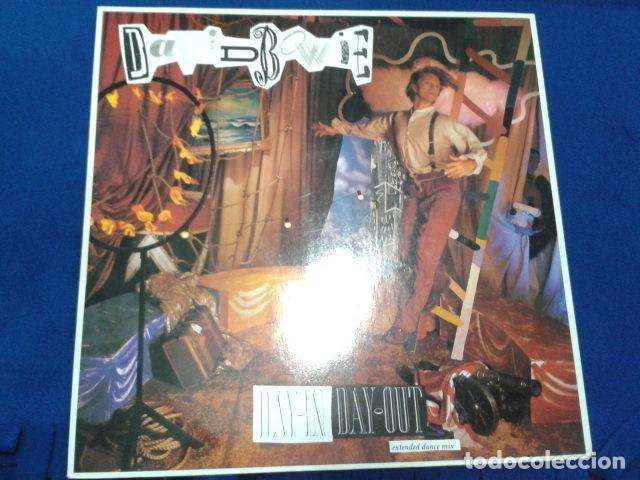 VINILO MAXI SINGLE 45 RPM DAVID BOWIE (DAY-IN DAY- OUT EXTENDED DANCE MIX ) 1987 EMI USA (Música - Discos de Vinilo - Maxi Singles - Pop - Rock Internacional de los 50 y 60)
