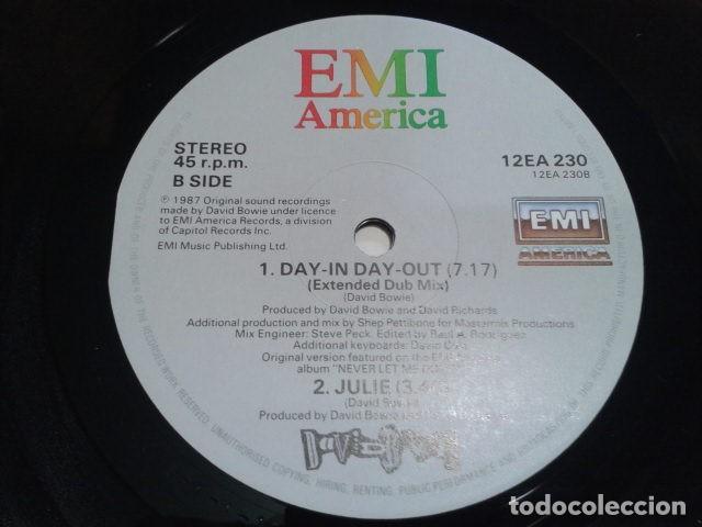 Discos de vinilo: VINILO MAXI SINGLE 45 RPM DAVID BOWIE (DAY-IN DAY- OUT EXTENDED DANCE MIX ) 1987 EMI USA - Foto 7 - 119237235