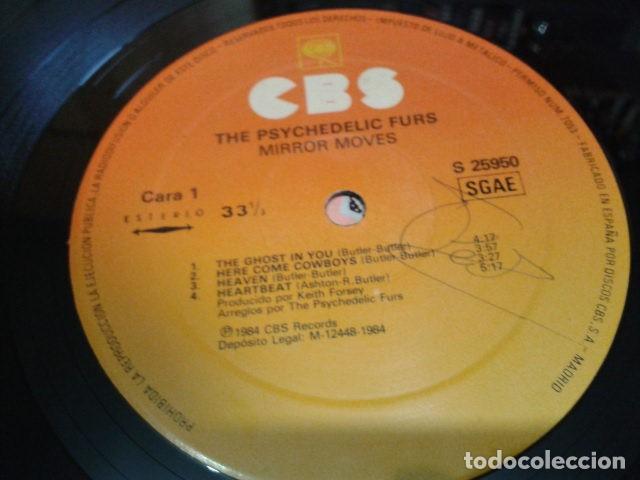 Discos de vinilo: LP VINILO PSYCHEDELIC FURS ( MIRROR MOVES ) 1984 CBS ESPAÑA - Foto 7 - 119254071