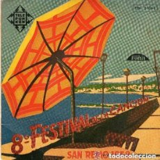 Discos de vinilo: 8º FESTIVAL DE LA CANCION DE SAN REMO 1958 CANTA GIACOMO RONDINELLA -EROS SCIORILLI Y ORQUESTA 45. Lote 119256035