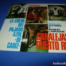 Discos de vinilo: LA CUEVA DEL PÁJARO AZUL (DE CÁDIZ) - GUITARRAS ALFONSO Y MANUEL LABRADOR. Lote 119266083