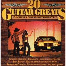 Discos de vinilo: 20 GUITAR GREATS. 20 COUNTRY GUITAR INSTRUMENTALS - LP 1979. Lote 119270879
