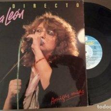 Discos de vinilo: DOBLE LP ROSA LEON EN DIRECTO - AMIGAS MIAS. Lote 119283567
