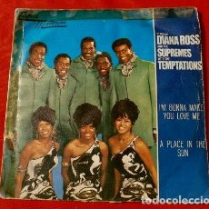 Discos de vinilo: DIANA ROSS & SUPREMES & TEMPTATIONS (SINGLE 1968) I'M GONNA MAKE YOU LOVE ME - TAMLA MOTOWN. Lote 119284519