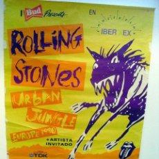 Discos de vinilo: THE ROLLING STONES: POSTER ORIGINAL GIRA 1990 URBAN JUNGLE-BARCELONA-RARISIMO. Lote 119293715
