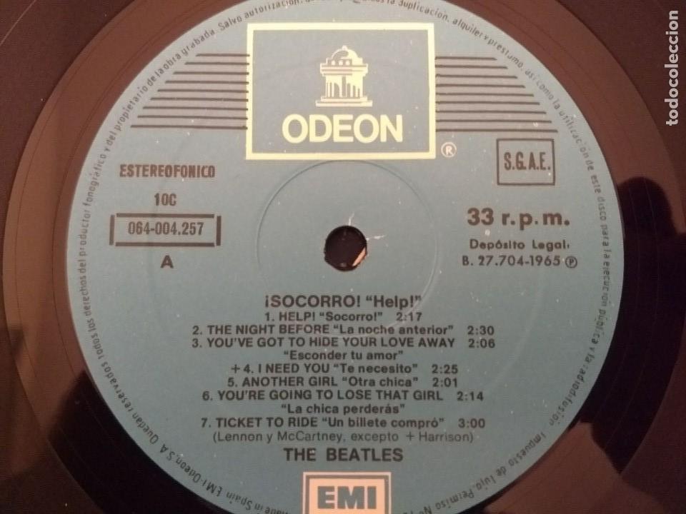Discos de vinilo: lp beatles - help - odeon 1965 - Foto 2 - 119281443