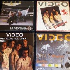 Discos de vinilo: LOTE 10 SINGLES VIDEO TIPO MECANO OLE OLE TINO CASAL VICKY LARRAZ MOVIDA. GASTOS DE ENVIO 8 € SPAIN. Lote 119352099