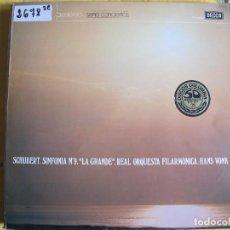 Disques de vinyle: LP - SCHUBERT - Nº 9, LA GRANDE (SPAIN, DECCA 4 FASES 1976). Lote 119359975