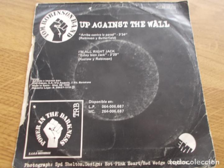 Discos de vinilo: TOM ROBINSON BAND. UP AGAINST THE WALL. I´M ALL RIGHT JACK - Foto 2 - 119368039