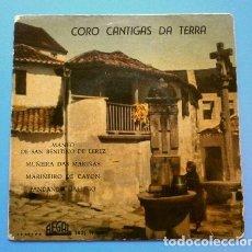 Discos de vinilo: GALICIA - CORO CANTIGAS DA TERRA (EP. 1961) MANEO DE SAN BENITIÑO DE LEREZ - MUÑEIRA DAS MARIÑAS. Lote 119375515