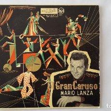 Discos de vinilo: EP - MARIO LANZA / GRAN CARUSO - LA DONNA E MOBILE +3 RCA 3-26072 . Lote 119385383