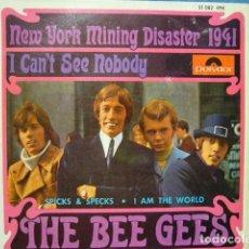 Discos de vinilo: THE BEE GEES NEW YORK MINING DISASTER 1941. EP 1967 EXCELENTE POLIDOR 51082EPH. Lote 119385579
