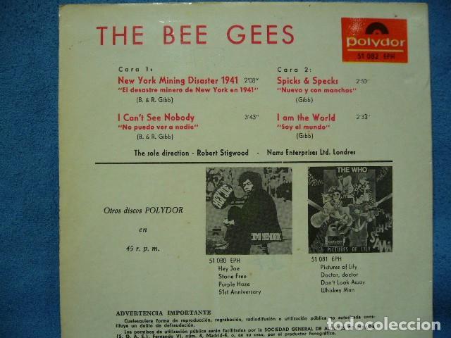 Discos de vinilo: THE BEE GEES NEW YORK MINING DISASTER 1941. EP 1967 EXCELENTE POLIDOR 51082EPH - Foto 3 - 119385579