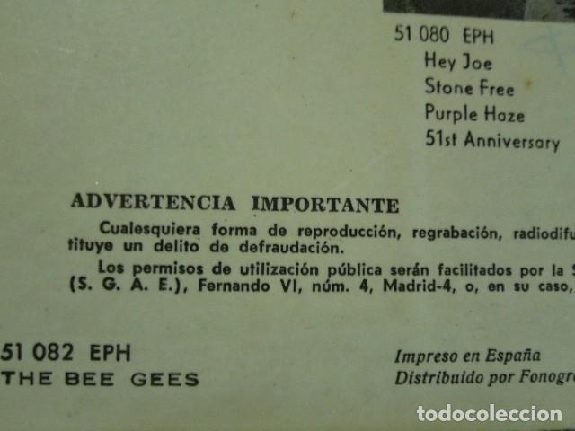 Discos de vinilo: THE BEE GEES NEW YORK MINING DISASTER 1941. EP 1967 EXCELENTE POLIDOR 51082EPH - Foto 4 - 119385579