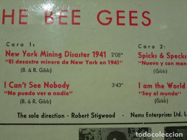 Discos de vinilo: THE BEE GEES NEW YORK MINING DISASTER 1941. EP 1967 EXCELENTE POLIDOR 51082EPH - Foto 5 - 119385579