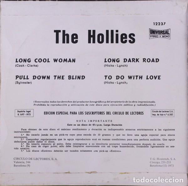 Discos de vinilo: THE HOLLIES LONG COOL WOMAN EP 1973. CIRCULO DE LECTORES ORLADOR 12237 - Foto 2 - 119385991