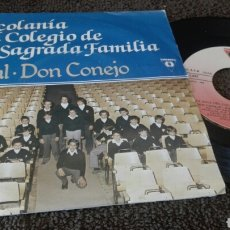 Discos de vinilo: DISCO VINILO SINGLE ESCOLANIA DEL COLEGIO DE LA SAGRADA FAMILIA. Lote 119418022