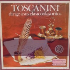 Discos de vinilo: 4 VINILOS DE TOSCANINI-EL PIANO MAGICO DE RUBINSTEIN, CON LA ORQUESTA SINFONICA DE CHICAGO. Lote 119433347