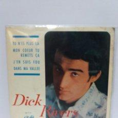 Discos de vinilo: EP ** DICK RIVERS (LES CHATS SAUVAGES)** TU N'ES PLUS LA ** COVER/ EX ** EP/ EX / NEAR MINT ** 1964. Lote 119456135
