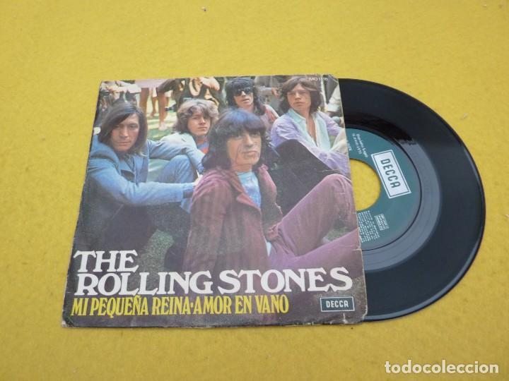 THE ROLLING STONES – MI PEQUEÑA REINA / AMOR EN VANO (VG/VG+) SPAIN SINGLE 7 Ç (Música - Discos - Singles Vinilo - Pop - Rock Extranjero de los 50 y 60)