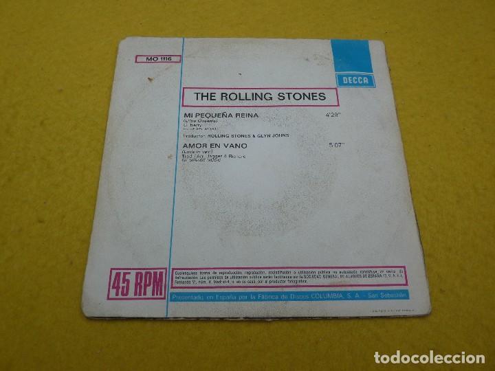 Discos de vinilo: The Rolling Stones – Mi Pequeña Reina / Amor En Vano (VG/VG+) Spain single 7 ç - Foto 2 - 119463331
