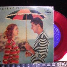 Discos de vinilo: VARIOS - XI FESTIVAL SAN REMO 1961 VETIQUATTROMILS BACI + 3 EP SPAIN 1961 PDELUXE. Lote 119478531