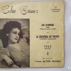 Discos de vinilo: EP - CELIA GAMEZ - LAS LEANDRAS +3 - COLUMBIA SCGE 80357 - 1960. Lote 119489627