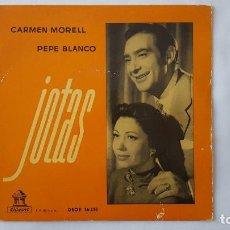 Discos de vinilo: EP - CARMEN MORELL Y PEPE BLANCO / JOTAS - DESDE FONTIBRE A TORTOSA +3 - ODEON DSOE 16.151 - 1958. Lote 119490411