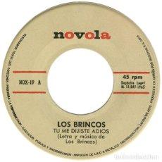 Discos de vinilo: LOS BRINCOS ?– TU ME DIJISTE ADIÓS (ED.: ESPAÑA, 1965) [SIN CARÁTULA]. Lote 119493135