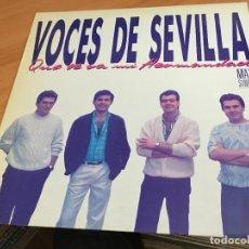 Discos de vinilo: VOCES DE SEVILLA (QUE SE VA MI HERMANDAD) MAXI 1988 PROMO (VIN-Z). Lote 119506539