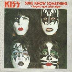 Discos de vinilo: KISS CARATULA DEL SINGLE SEGURO QUE SABE ALGO ESPAÑA 1979 SOLO CARATULA EN PERFECTO ESTADO. Lote 186395127