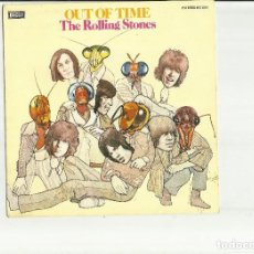 Discos de vinilo: ROLLING STONES CARATULA DEL SINGLE OUT OF TIME ESPAÑA 1976 SOLO CARATULA. Lote 176404355