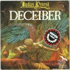 Discos de vinil: JUDAS PRIEST CARATULA DEL SINGLE DECEIBER ESPAÑA 1976. SOLO CARATULA. Lote 171580962