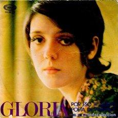 Discos de vinilo: GLORIA / POR ESO TE QUIERO (XIII FESTIVAL DE BENIDORM) / POETA DE ANTAÑO (SINGLE 1971). Lote 119552803
