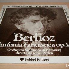 Discos de vinilo: BERLIOZ - SINFONÍA FANTASTICA OP. 14 - ORQUESTA SINFÓNICA DE BAMBERG DIRIGIDA POR JONEL PERLEA. Lote 119555507