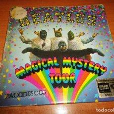 Discos de vinilo: THE BEATLES MAGICAL MYSTERY TOUR DOBLE EP VINILO 1967 ODEON CON LIBRETO HECHO EN ESPAÑA 6 TEMAS. Lote 119559034