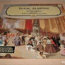 Discos de vinilo: LP ISAAC ALBÉNIZ - SUITE IBERIA - ENCICLOPEDIA SALVAT DE LOS GRANDES COMPOSITORES Nº 75.. Lote 119564355