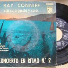 Discos de vinilo: RAY CONNIFF CON SU ORQUESTA Y COROS - CONCIERTO EN RITMO Nº2 - SINGLE PHILIPS - 1960. Lote 119565247