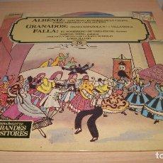 Discos de vinilo: DISCO VINILO LP: SALVAT GRANDES COMPOSITORES NUMERO 76- ALBENIZ, GRANADOS Y FALLA. Lote 119565727