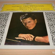 Discos de vinilo: LUDWIG VAN BEETHOVEN SINFONIAS 8 Y 9. KARAJAN. DEUTSCHE. 2 LPS. 1975. Lote 119586927