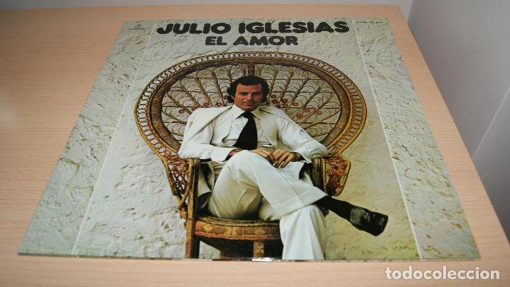 JULIO IGLESIAS LP - EL AMOR - PORTADA DOBLE CON LETRA DE CANCIONES COLUMBIA 1975 SPA (Música - Discos - LP Vinilo - Solistas Españoles de los 70 a la actualidad)