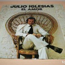 Discos de vinilo: JULIO IGLESIAS LP - EL AMOR - PORTADA DOBLE CON LETRA DE CANCIONES COLUMBIA 1975 SPA. Lote 119587147