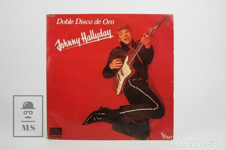 Discos de vinilo: Doble Disco Lp De Vinilo - Johnny Hallyday / Disco de Oro - Vogue - Año 1978 - Foto 2 - 119611027