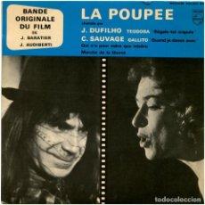 Discos de vinilo: JORGE MILCHBERG/JACQUES AUDIBERTI – BANDE ORIGINALE DU FILM LA POUPÉE - EP FRANCE - PHILIPS. Lote 119632551