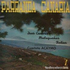 Dischi in vinile: CUARTETO ALCAYMO - ISAS CANARIAS - EP RARO DE VINILO FOLCLORE CANARIO. Lote 119693563