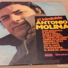 Discos de vinilo: EL INIMITABLE ANTONIO MOLINA. DISCOPHON. 1971.. Lote 119696911