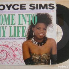 Discos de vinilo: JOYCE SIMS - COME INTO MY LIFE - MAXISINGLE 45 - ESPAÑOL 1987 - LONDON. Lote 119700303